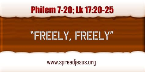 catholic homily freely freely give    lordhappy  year