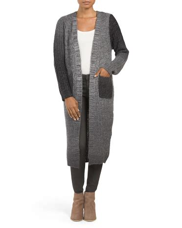 Daster Ombre ombre duster cardigan sleeve t j maxx
