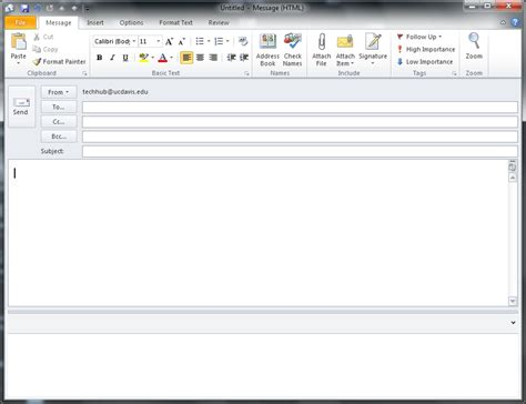 how to layout a email how to send an html e mail from outlook 2010 update