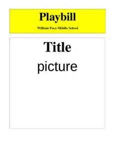 Playbill Template Free by Make Your Own Broadway Playbill Template My