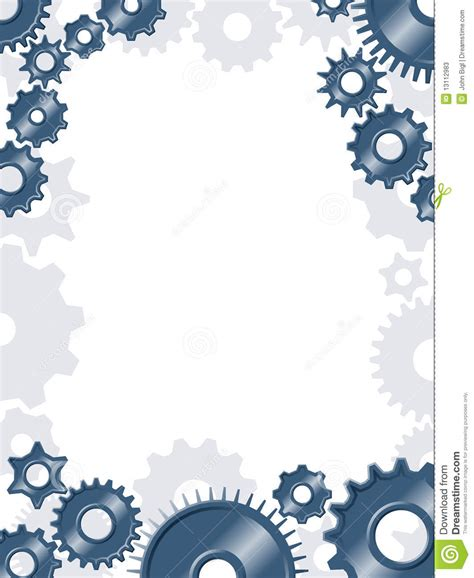 How To Frame A Print by Gear Border Stock Vector Illustration Of Machine Frame