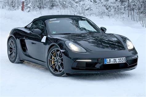 porsche spyder porsche boxster 718 spyder spied winter testing ahead of