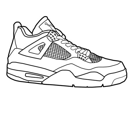 coloring pages of vans shoes shoe sketch clipart