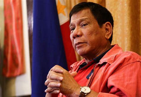 philippines rodrigo duterte orders soldiers  shoot