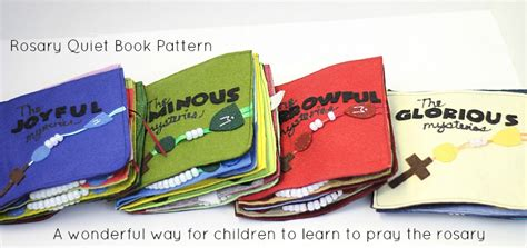 rosary quiet book pattern 40 faith building lenten activities do small things with