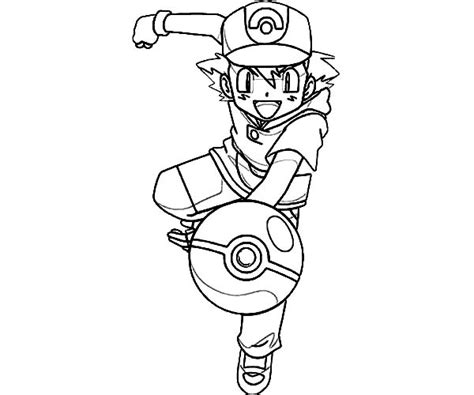 34 ash ketchum coloring pages ash ketchum throw pokemon