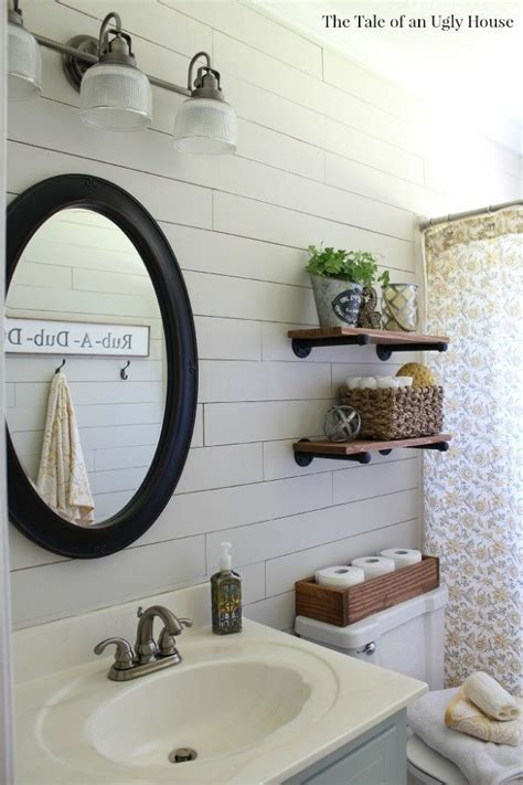 diy guest bathroom remodel a farmhouse bath makeover cheapest shiplap how to hometalk
