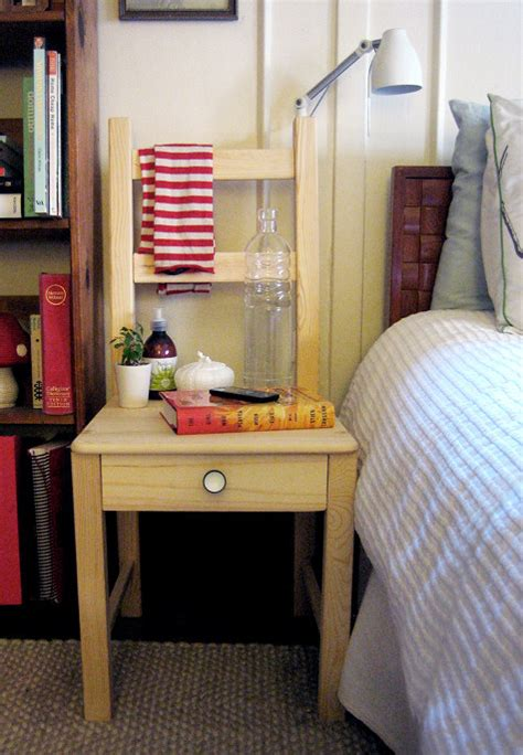 Bedside Chair by How To Turn An Chair Into A Bedside Table Shelterness