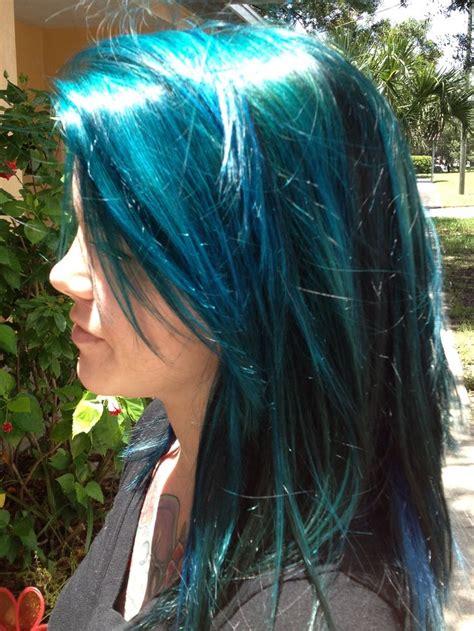 pravana blue hair color pravana vivids teal blue hair rock your locks creative