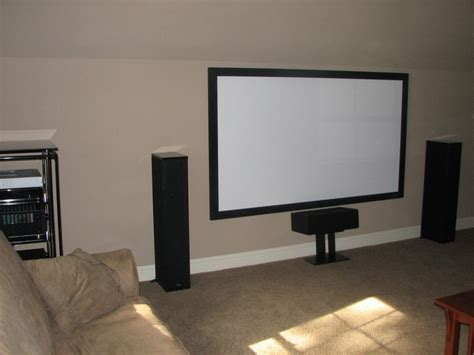 Media Room With Enclosed Projector Unisen Media Llc Projector For Room