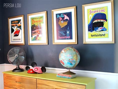 posters for boys bedrooms small shared boy and girl s bedroom vintage disneyland