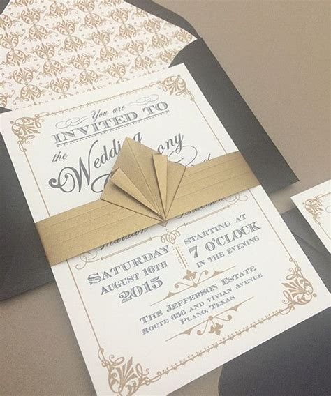 art deco style party favors and invitation templates on