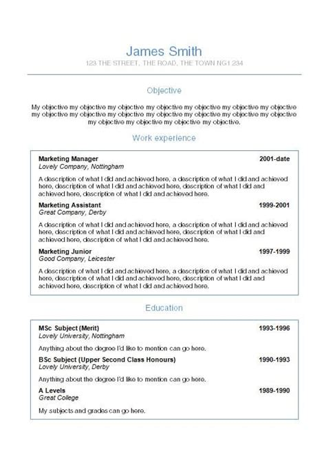 helvetica word cv template how to write a cv how to