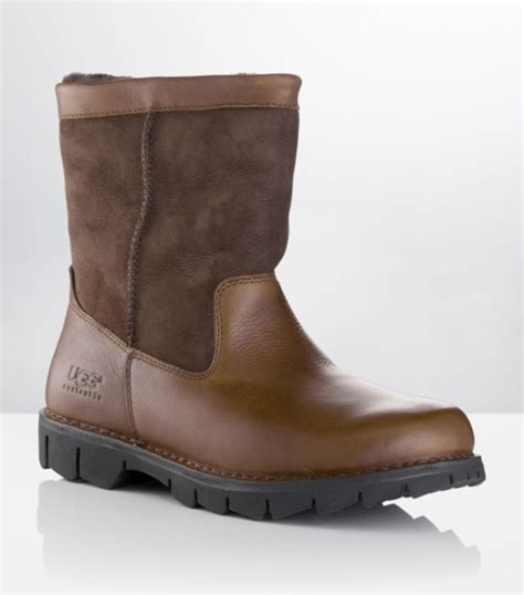 mens brown ugg boots ugg beacon leather and suede boot in brown for lyst