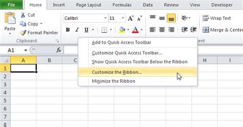 excel 2010 ribbon tutorial ribbon in excel easy excel tutorial
