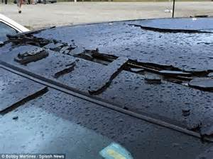 Lightning Strike Car Damage Injured After Lightning Strike In Ta Bay