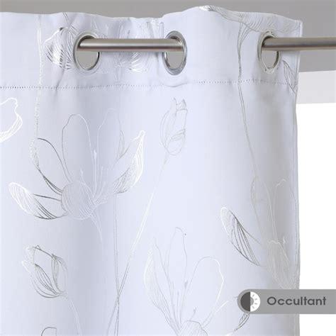Rideaux Occultants Blancs by Rideau Occultant Quot Fleur Quot 140x260cm Blanc