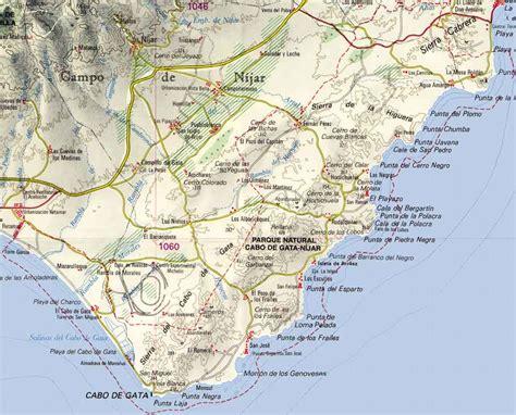 mapa parque cabo de gata parque cabo gata nijar alquiler de casas cabo