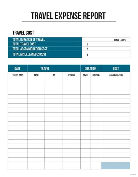 11 Travel Expense Report Templates Free Word Excel Pdf Documents Download Free Premium Excel Business Travel Expense Template