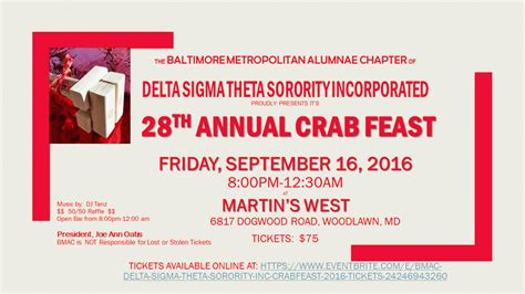 28th Annual Big Feast delta sigma theta sorority inc 28th annual crab feast