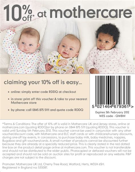 discount vouchers mothercare 10 off using promotional code mothercare hotukdeals