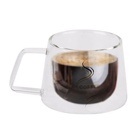 Free Kitchen Design App 2017 new double layer glass coffee mug cup borosilicate