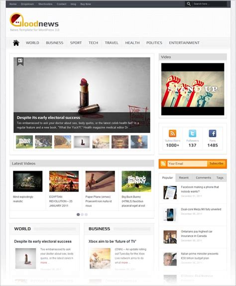 theme blog responsive wordpress 25 free premium responsive magazine wordpress themes for