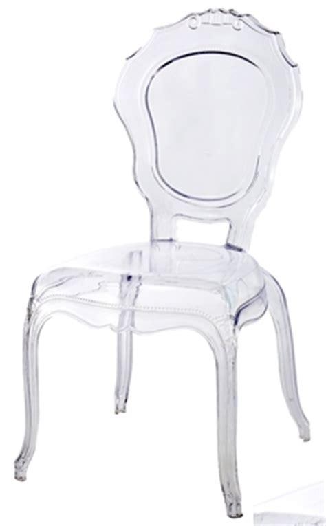 chaise polycarbonate transparente style louis xiv