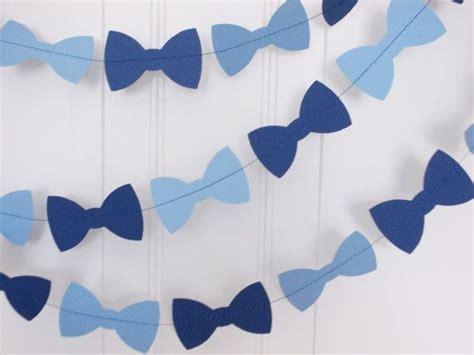 light blue baby shower decorations bow tie garland navy light blue garland boy birthday