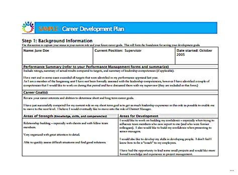 professional development plan sle templates employee professional development plan template 28 free