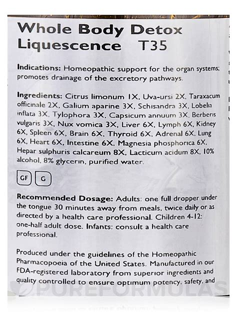Whole Detox Liquescence How To Use by Whole Detox Liquescence 4 Fl Oz 118 Ml