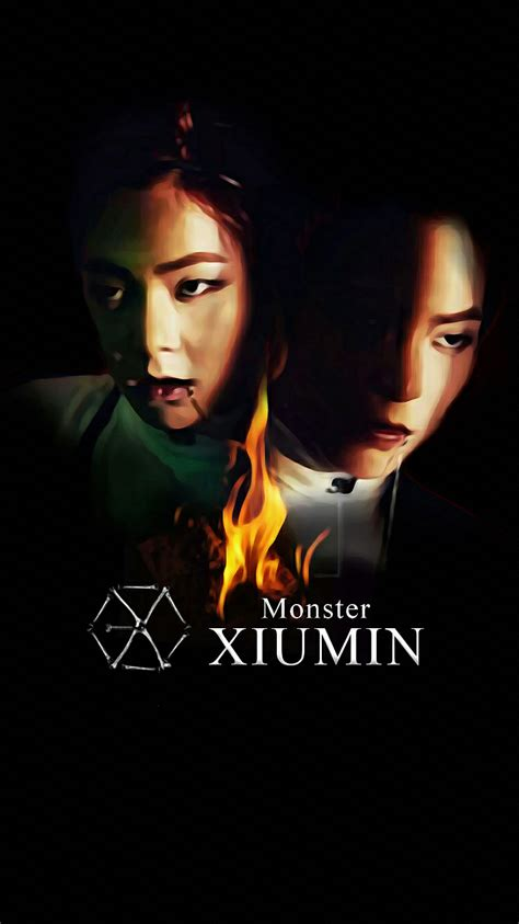 wallpaper exo xiumin wallpaper exo 2016 monster teaser xiumin by