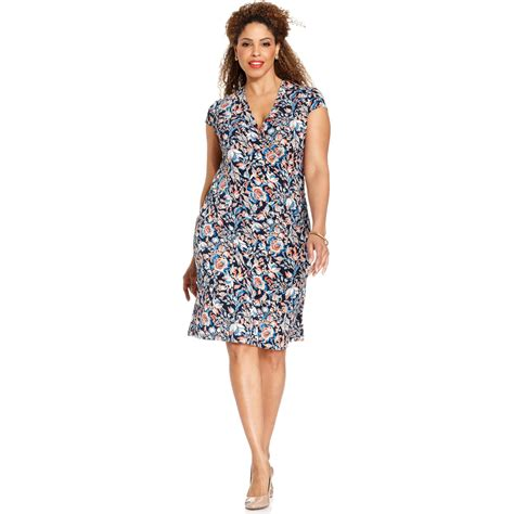 Blue Signature Flower Dress 41672 jones new york floral dresses dress images
