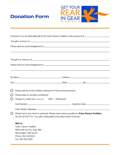 fundraiser pledge form template doc 991477 donation pledge form template sle invoice