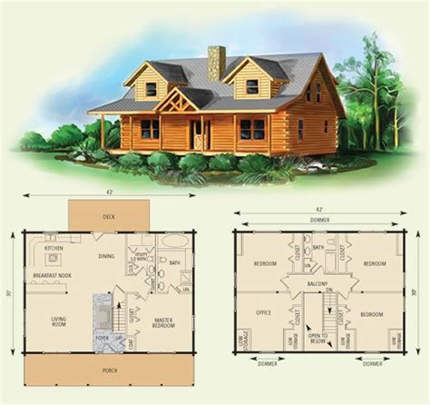 Log Cabin Homes Log Cabin Floor Plans With Wrap Around 2 Story Log Home Plans
