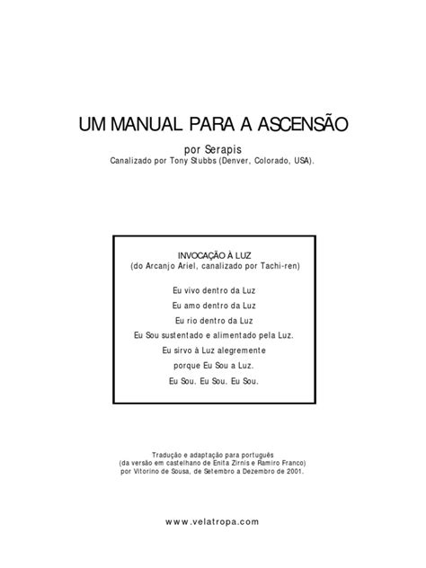 Manual Ascensao
