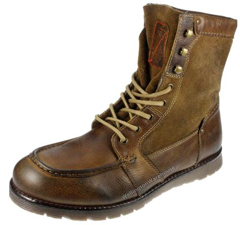 mens brown leather lace up boots mens leather rucker honey brown suede high lace