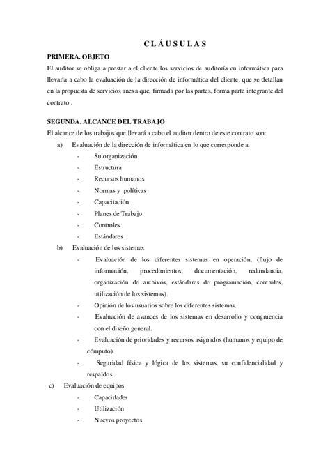 carta propuesta de contratacion ejemplo de contrato de auditor 237 a en inform 225 tica