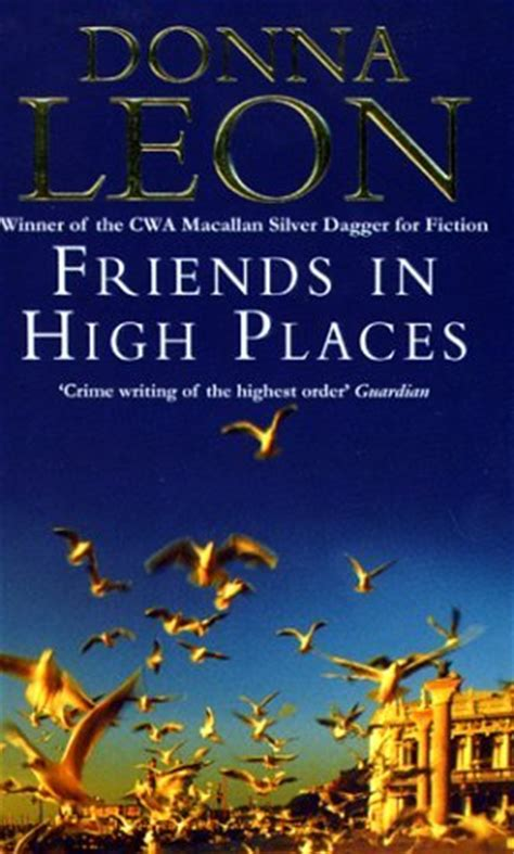 high places a parable books friends in high places commissario brunetti 9 by donna