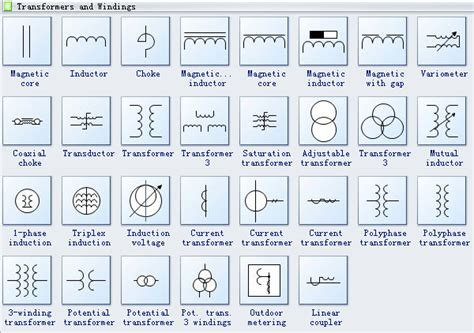 circuit diagram symbol transformer efcaviation