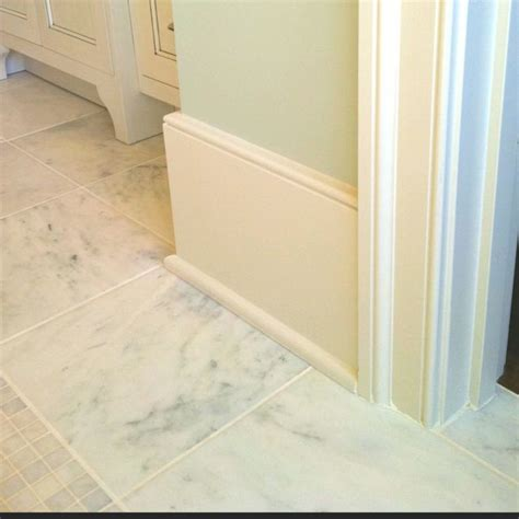 Bathroom Baseboard Ideas Big Simple Baseboard Idea House Pinterest More Baseboard Trim Baseboard And Marble Tiles
