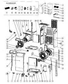 royal sovereign portable air conditioner parts model arp1000es sears partsdirect