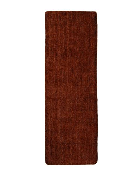 lanart rug rust fleece 2 ft 6 in x 8 ft area rug the