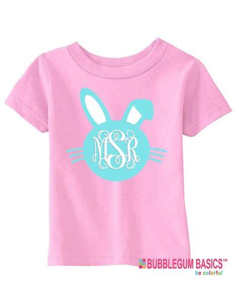 design a monogram shirt personalized girls or boys easter bunny monogram t shirt