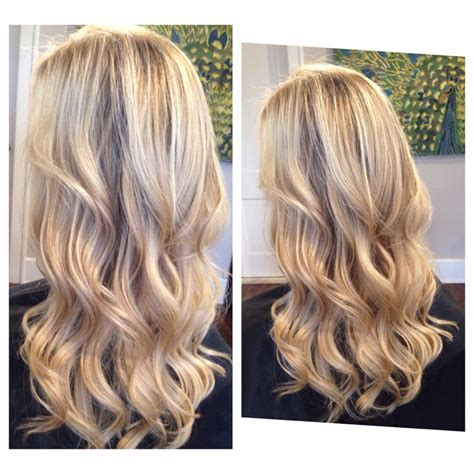 baby layered hair blonde dimension and blonding magic waterfall cascading