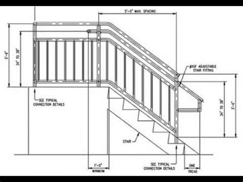 height of banister on stairs exterior stair handrail code a more decor