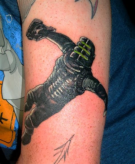 dead space tattoo finished by gphill25291 on deviantart