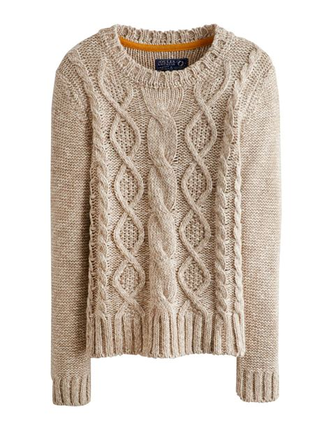 knit jumper joules avelyn womens jumper pullover neck cable knit
