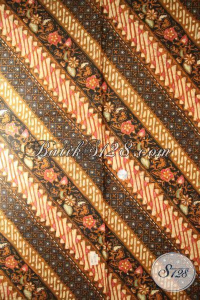 Kain Batik Sogan Jawa Premium 002 batik parang bunga kwalitas premium kain batik elegan klasik untuk baju atasan perempuan karir