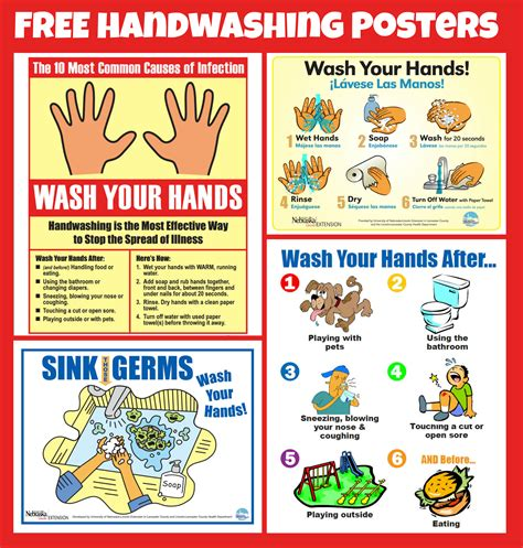 Printable Hand Washing Poster | free handwashing posters keeping your food safe